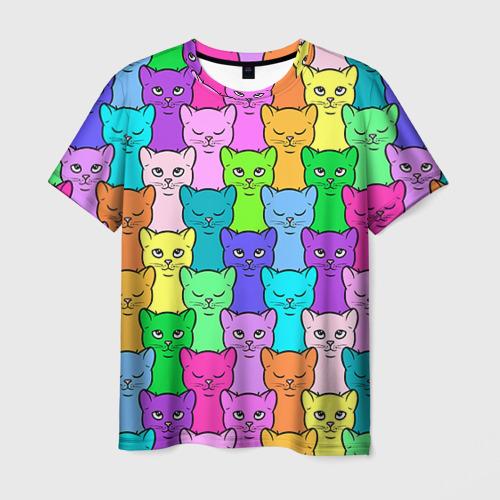 Мужская футболка 3D Котятушки