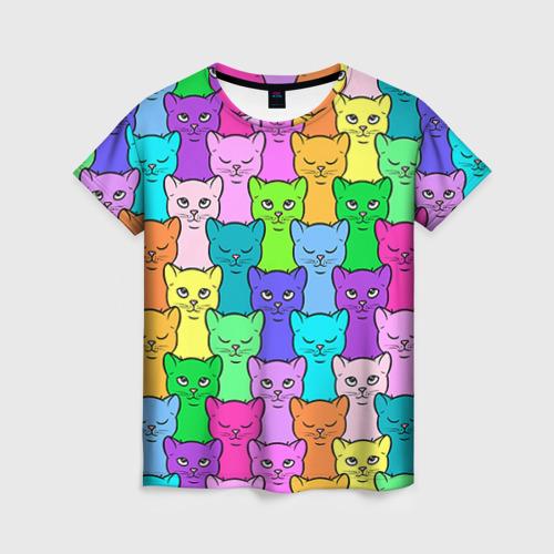 Женская футболка 3D Котятушки