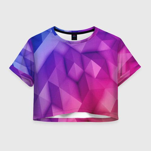 Женская футболка Crop-top 3D Абстракция