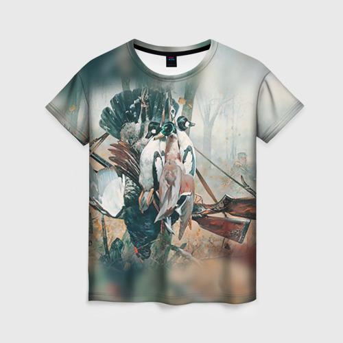 Женская футболка 3D Утки