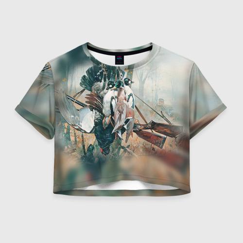 Женская футболка Crop-top 3D Утки