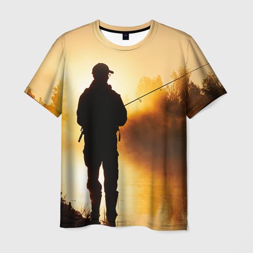 Мужская футболка 3D Рыбак