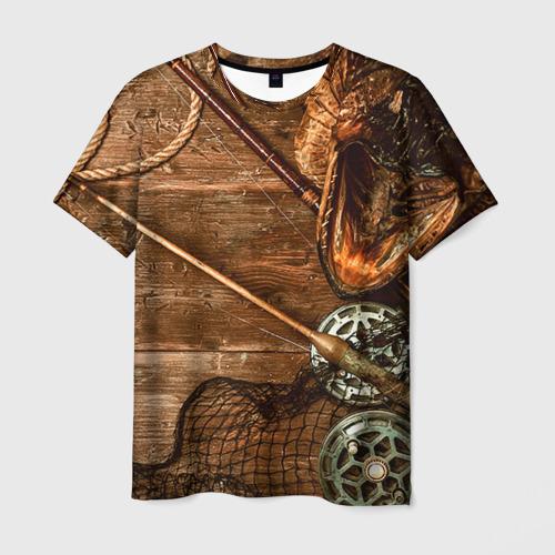 Мужская футболка 3D Рыбацкий стол