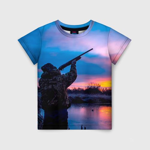 Детская футболка 3D Охотник