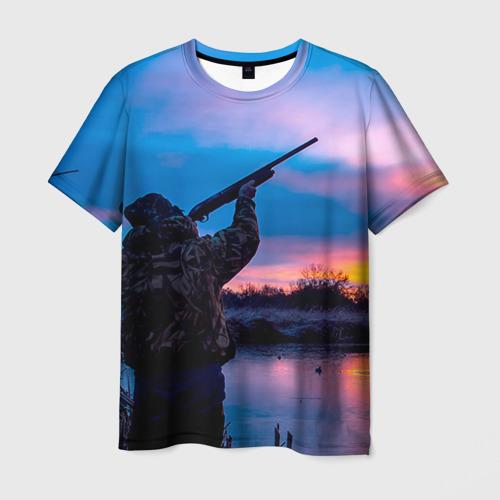 Мужская футболка 3D Охотник