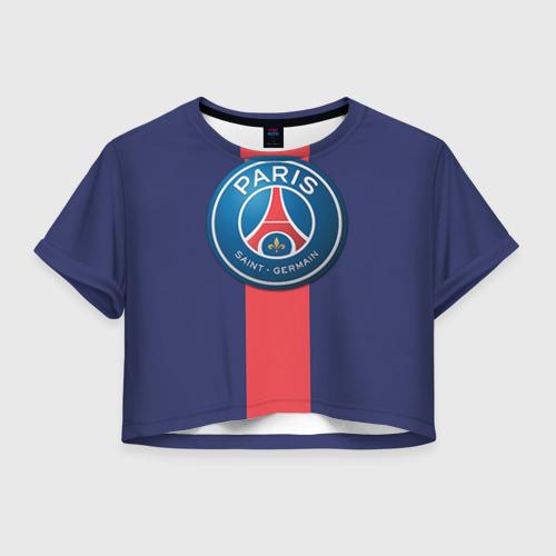 Женская футболка Crop-top 3D Пари Сен-Жермен