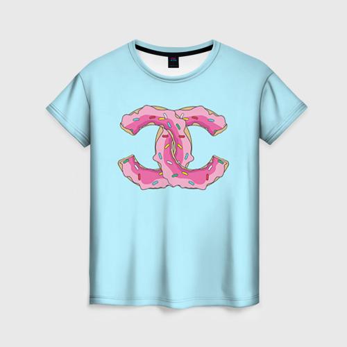 Женская футболка 3D Модный пончик