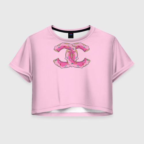 Женская футболка Crop-top 3D Модный пончик