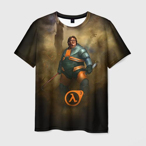 Мужская футболка 3D Гейб Ньюэлл