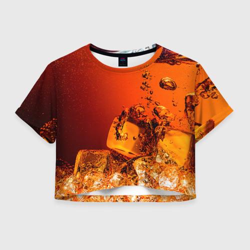 Женская футболка Crop-top 3D Кола 1