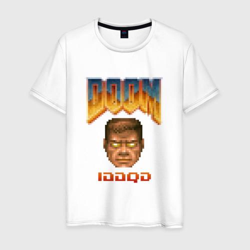 Мужская футболка хлопок iddqd пиксель-арт