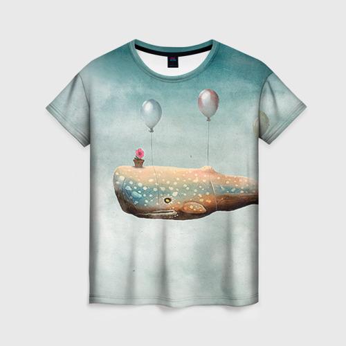 Женская футболка 3D Кит