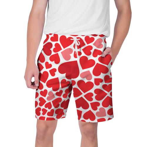Мужские шорты 3D Сердечки