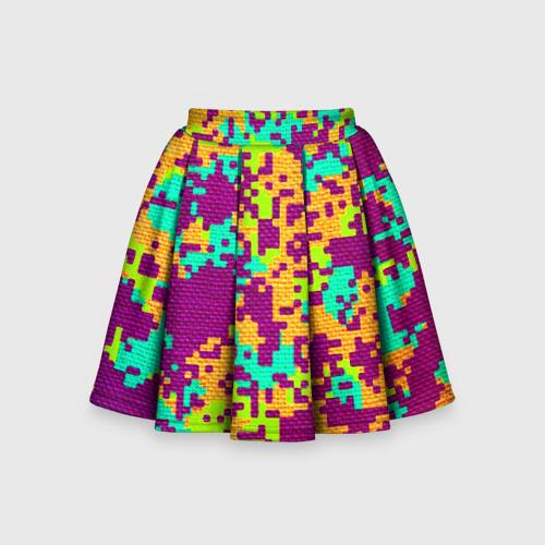 Детская юбка-солнце 3D Пиксели