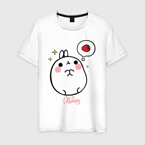 Мужская футболка хлопок Кролик Моланг (клубника)
