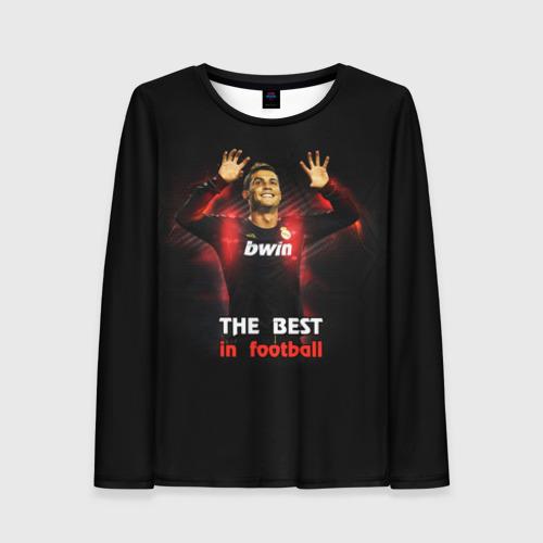 Женский лонгслив 3D The best in football