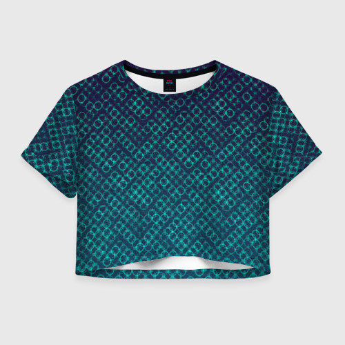 Женская футболка Crop-top 3D Кольца