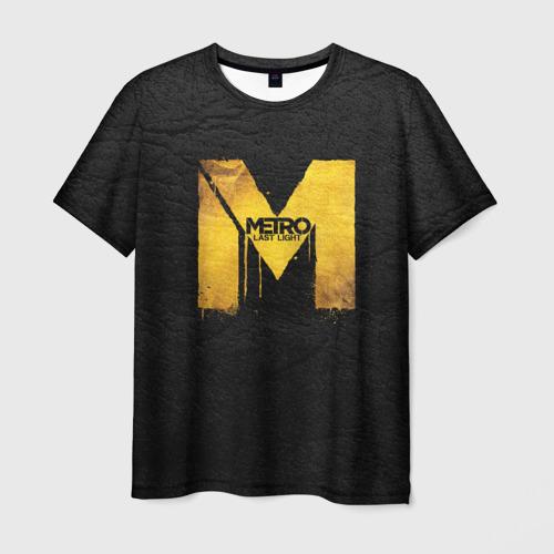 Мужская футболка 3D Metro: Last Light
