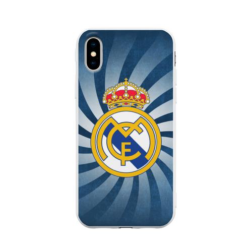 Чехол для iPhone X матовый Реал Мадрид