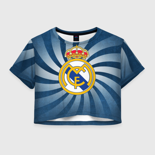 Женская футболка Crop-top 3D Реал Мадрид