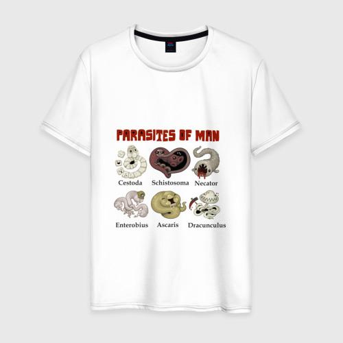 Мужская футболка хлопок Паразиты человека