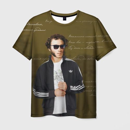 Мужская футболка 3D Пушкин