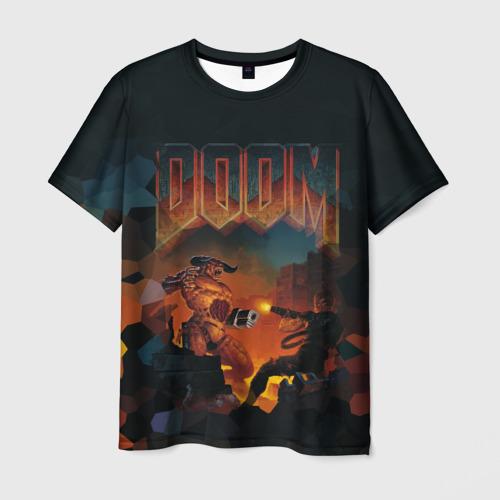 Мужская футболка 3D Doom 2
