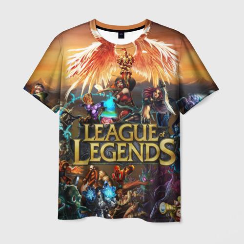 Мужская футболка 3D League of legends all