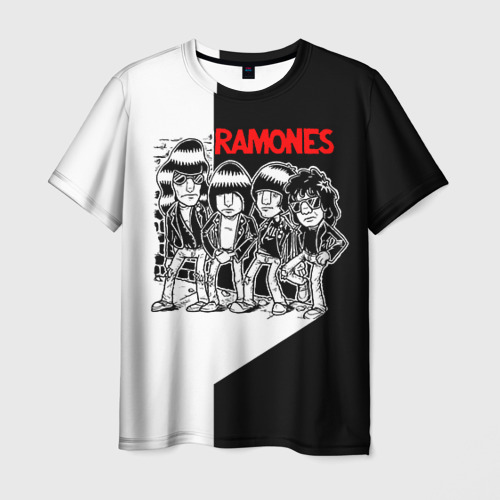 Мужская футболка 3D Ramones 1