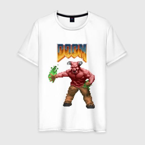 Мужская футболка хлопок Минотавр (Doom) пиксель-арт