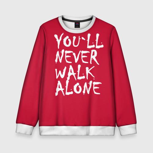 Детский свитшот 3D YOU`LL NEVER WALK ALONE