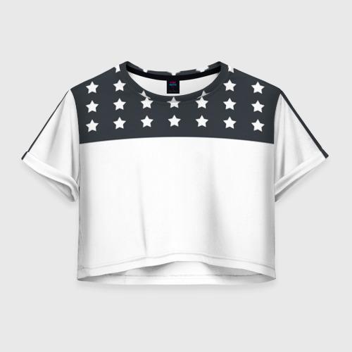 Женская футболка Crop-top 3D Stars