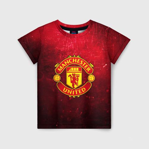 Детская футболка 3D Манчестер Юнайтед