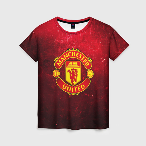 Женская футболка 3D Манчестер Юнайтед