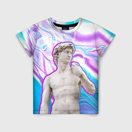 Детская футболка 3D Статуя Давида
