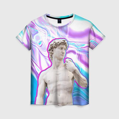 Женская футболка 3D Статуя Давида