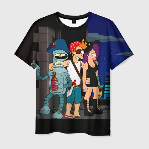 Мужская футболка 3D Футурама