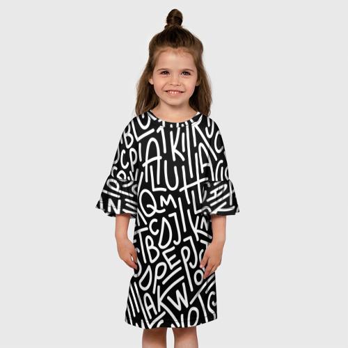 Детское платье 3D Английские буквы