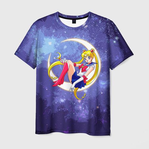 Мужская футболка 3D Сейлор Мун в космосе