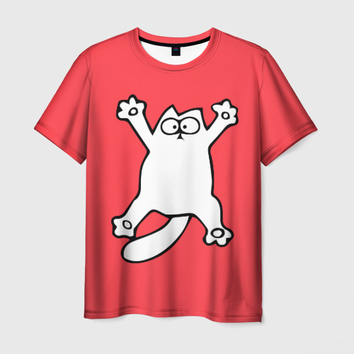 Мужская футболка 3D Simon's cat 5