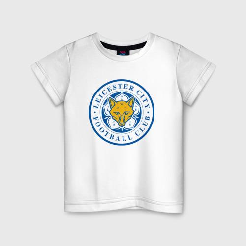 Детская футболка хлопок Лестер Сити