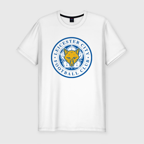 Мужская футболка хлопок Slim Лестер Сити