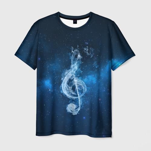 Мужская футболка 3D Космическая музыка
