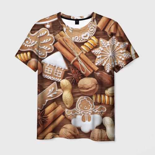 Мужская футболка 3D Новогодние вкусняшки