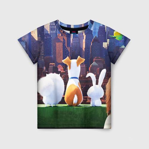 Детская футболка 3D Домашние животные