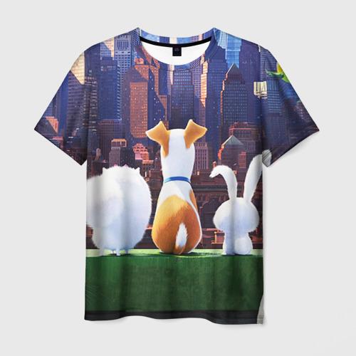 Мужская футболка 3D Домашние животные