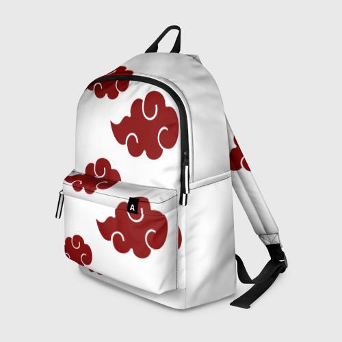 Рюкзак 3D Красные облака АКАЦУКИ на белом