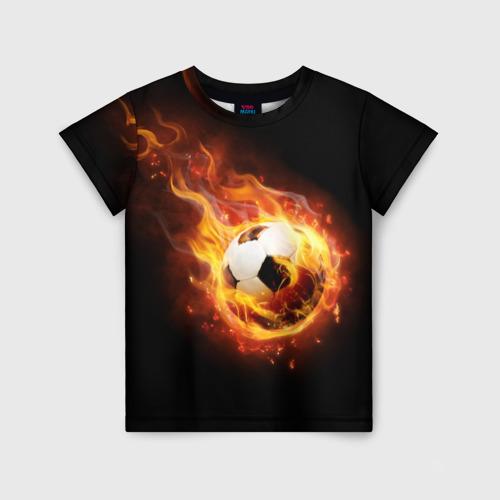 Детская футболка 3D Страсть к футболу