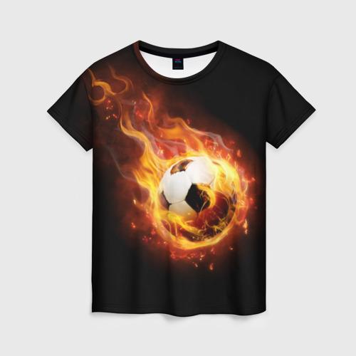 Женская футболка 3D Страсть к футболу