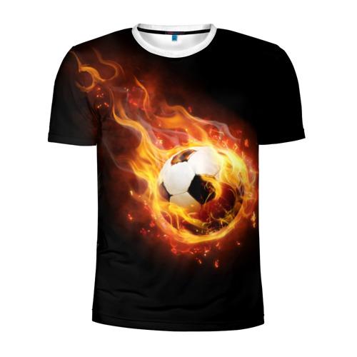 Мужская футболка 3D спортивная Страсть к футболу